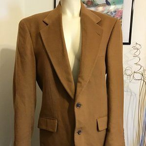 NWOT INTERNATIONAL PASSPORT BROWN CASHMERE BLAZER
